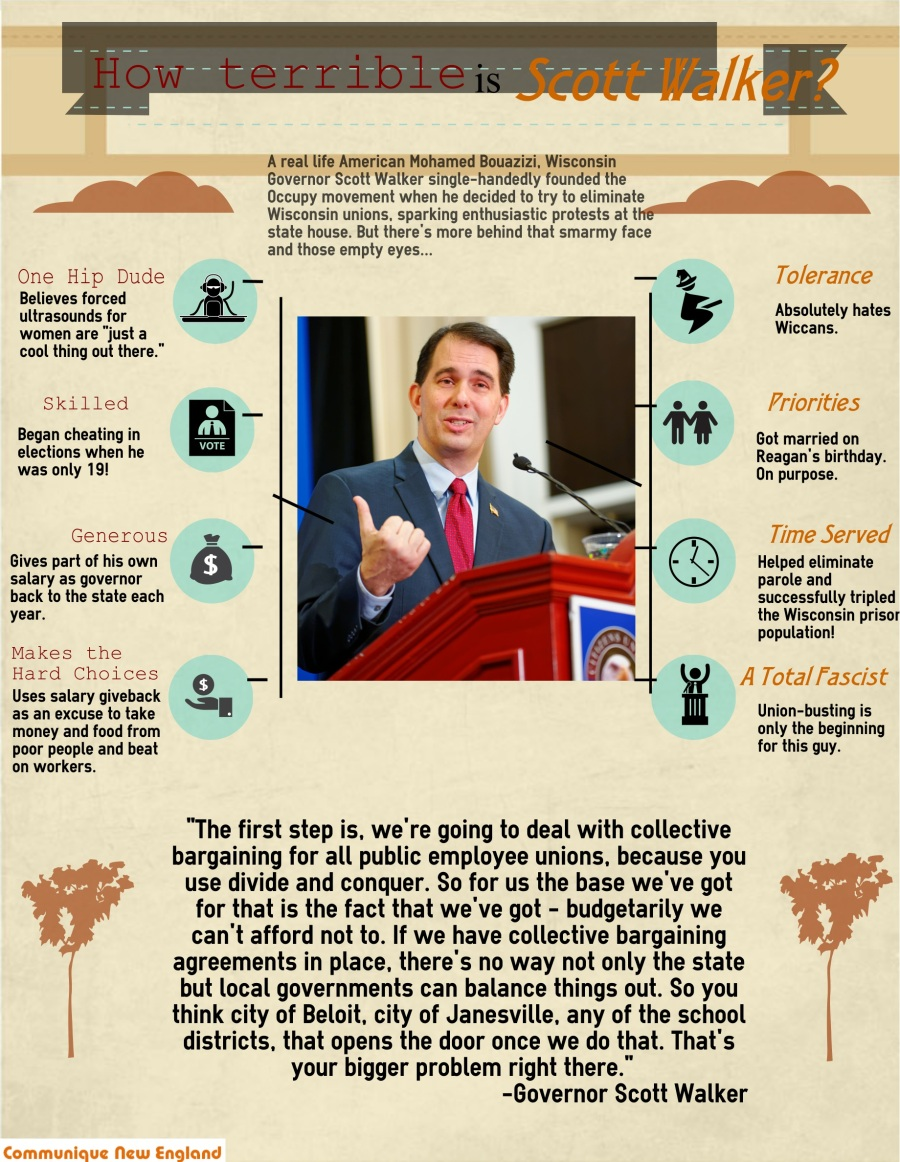 Scott Walker Infographic